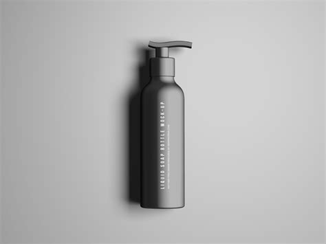Bottle mockups make the process of presenting and packaging your designs in high quality photorealistic manner possible. Liquid Soap Bottle Mockup