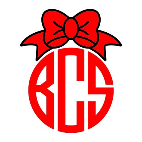 ribbon monogram svg cuttable designs