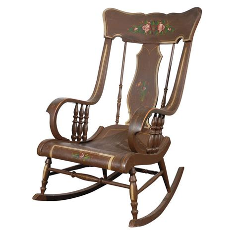 fantastic 19thc original painted boston rocking chair from