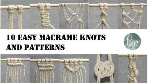 easy macrame knots  patterns tutorial youtube