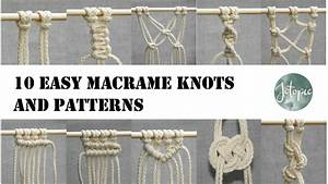 10 Easy Macrame Knots And Patterns