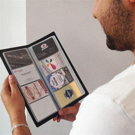 porte carte de bureau classeur porte 80 cartes de visite business noir