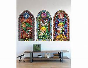 wall decal stained glass wall decal ideas for home With legend of zelda wall decal ideas for kids