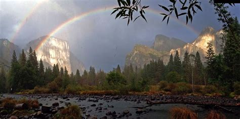 Double Rainbow Appears Yosemite Valley