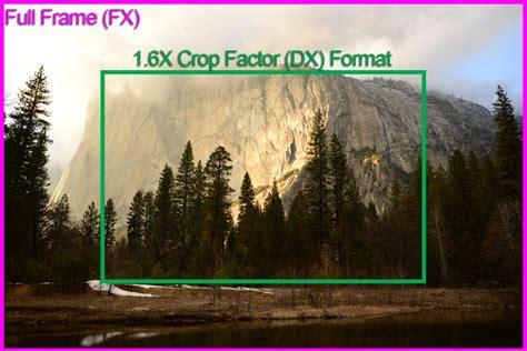 full frame  crop sensor camera