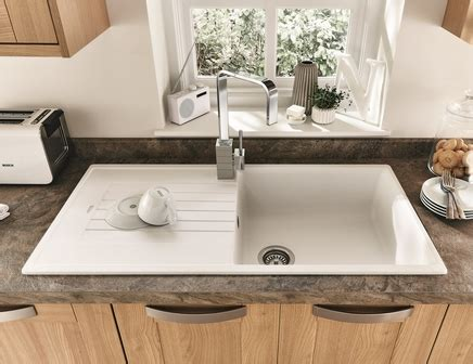 white composite kitchen sinks lamona white granite composite single bowl sink howdens 1278