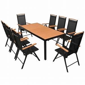 Table Jardin Composite : salon de jardin aluminium composite 8 fauteuils ~ Teatrodelosmanantiales.com Idées de Décoration