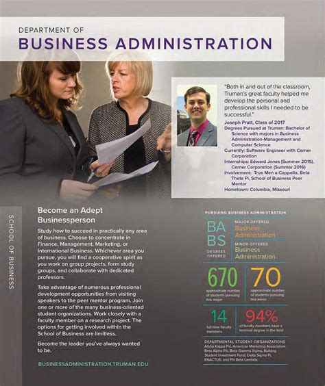 business administration quick facts truman state university