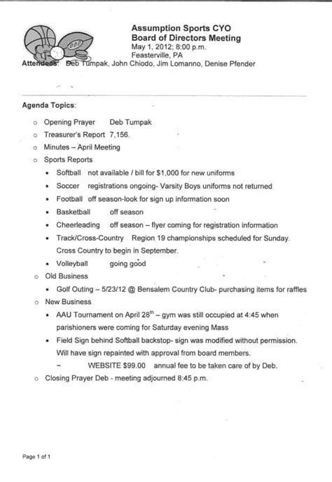 meeting minutes template word excel formats