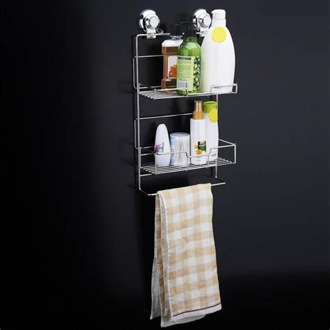 1Pc Hot Mounted Two Tier Stainless Steel Bathroom Soap