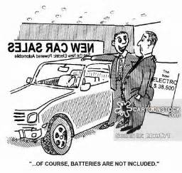 Funny Batteries Cartoon