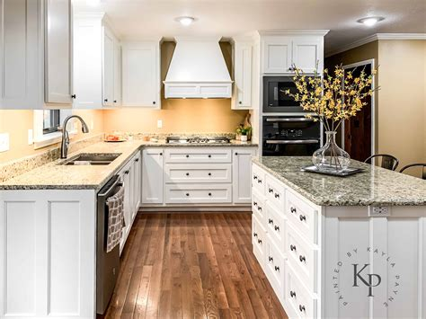 kitchen cabinets  sherwin williams dover white painted