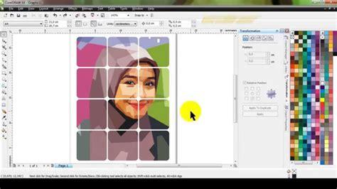 memotong gambar foto menjadi  bagian