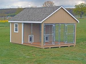 double dog house with kennel buy outdoor dog kennels With at home dog kennels