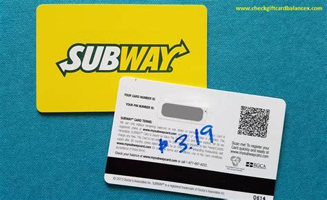 How To Check Subway Gift Card Balance At Wwwmysubwaycard