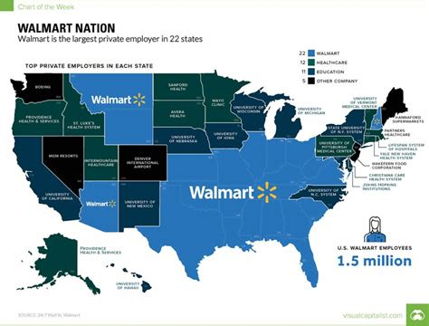 Spell Employer by This Map Breaks The Largest Employer In Each State