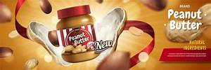 peanut butter poster template vector 01 free download
