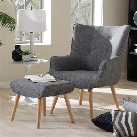 baxton studio nola mid century gray fabric upholstered
