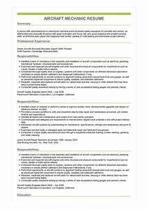 Good Skills For Resume Sample Aircraft Mechanic Resume