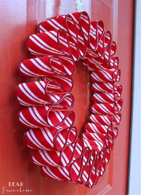 diy ribbon candy wreath fast easy christmas craft