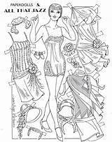 Paper Dolls Coloring Ventura Charles Printable Flapper Convention Especially Pd Done sketch template