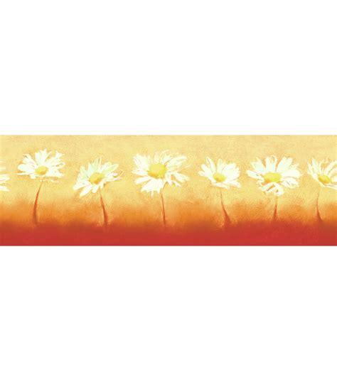 art daisy wallpaper border orange  joanncom