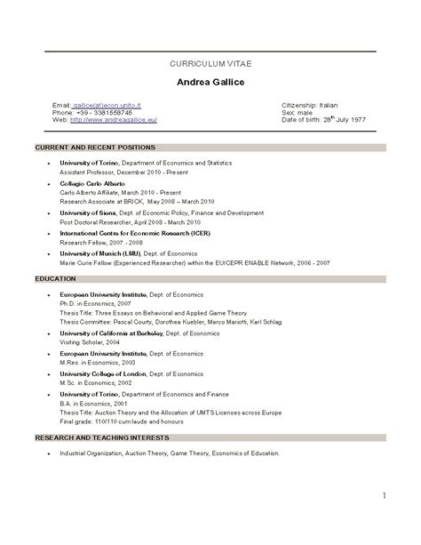 assistant professor position 2 resume sle