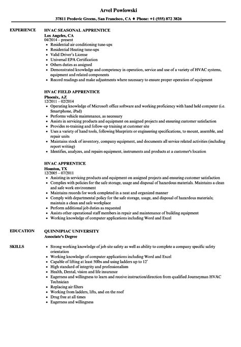 Air Resume by Sle Resume Exles Of Hvac Resumes Cometmerch
