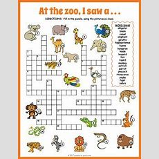 Zoo Animals Crossword Puzzle  Master 2  English, Pinterest, Anglais
