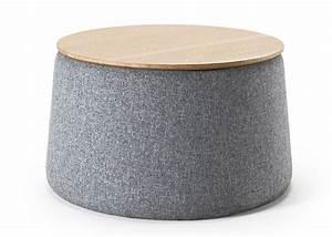 Pouf Pour Salon : table basse ronde avec pouf ~ Premium-room.com Idées de Décoration