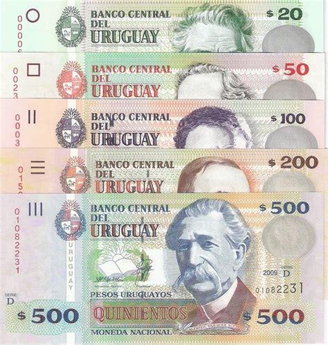 Uruguay Dolar Set Of 5 Notes Uruguay Pesos Banknotes World Currency