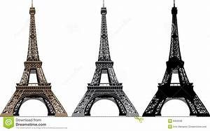 Vector Illustration Of Eiffel Tower Royalty Free Stock ...