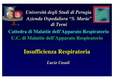 dispense università insufficienza respiratoria dispense
