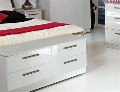 Queen 4 Drawer White High Gloss Bed Box Chest Cash Drawer Maken Ki 350 Mk425 Black Chest Of Drawers And Bedside Tables Matching Table Two Way Slide Manufacturers Sea Animal Pulls