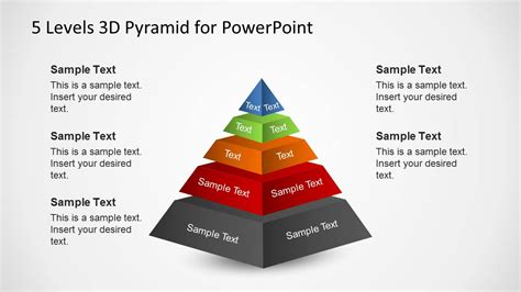 levels  pyramid template  powerpoint