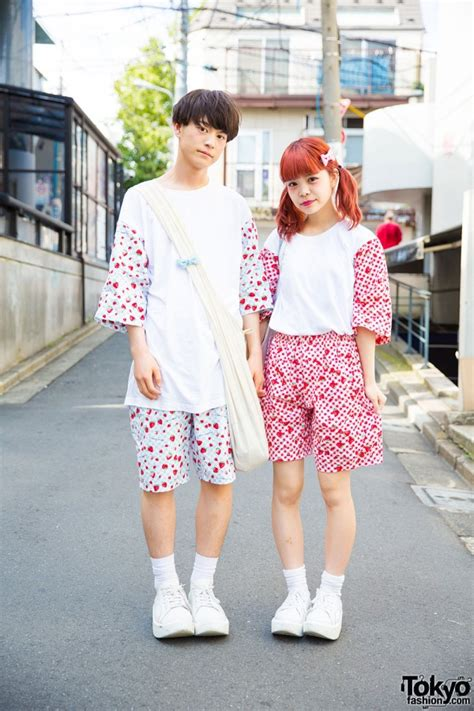 supercute harajuku couple  matching remake fashion