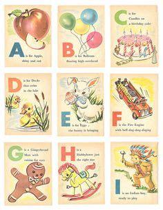 Min Baby Abc Vintage Flashcards  Click Image To Close  Alphabets  Pinterest Automobile