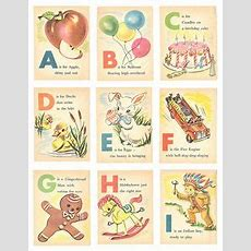 Min Baby Abc Vintage Flashcards  Click Image To Close  Alphabets  Pinterest Automobile
