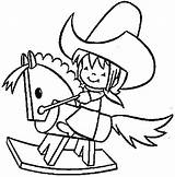 Rodeo Coloring Cowboy Pages Printable Template Drawing Number sketch template