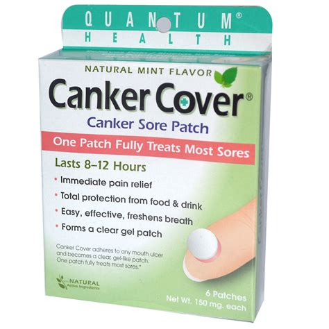 Canker Sore Cover by Quantum Health Canker Cover Canker Sore Patch Natural