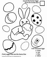 Easter Coloring Egg Eggs Count Hard Honkingdonkey Candy sketch template