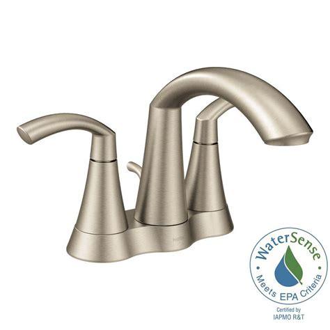 moen kitchen sink faucets moen glyde 4 in centerset 2 handle high arc bathroom 7838