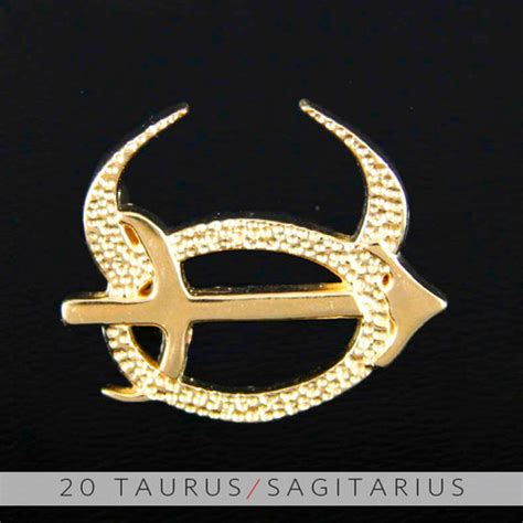 taurus  sagittarius gold unity pendant  storenvy