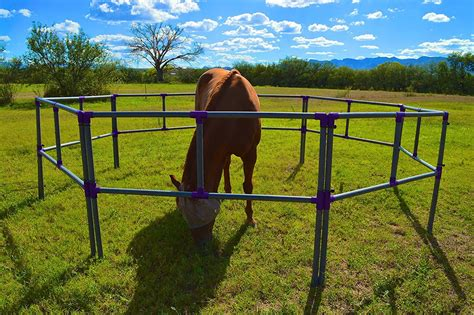 corral horse portable stretch panel camping affordable rail legs weekend equine quiet needs traveling perfect farm ridge