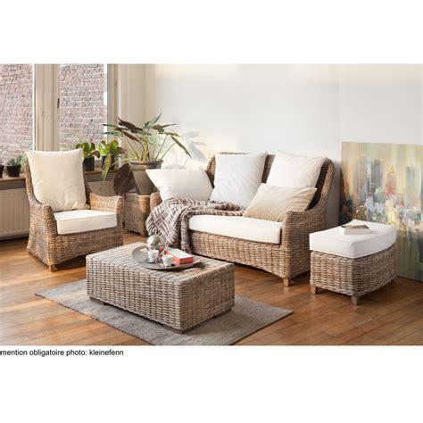canapé plus fauteuil canapé 3 places en kubu rotin transat