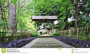 gateway au jardin japonais photo stock image du boise With portique de jardin japonais