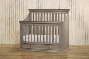 Rustic Baby Crib Gray