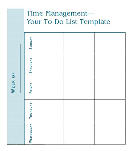 time management template 10 to do list sles sle templates