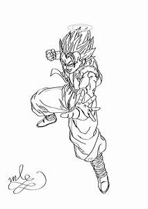 Dragon Ball Z - Gogeta Coloring Page by maantje007 on ...