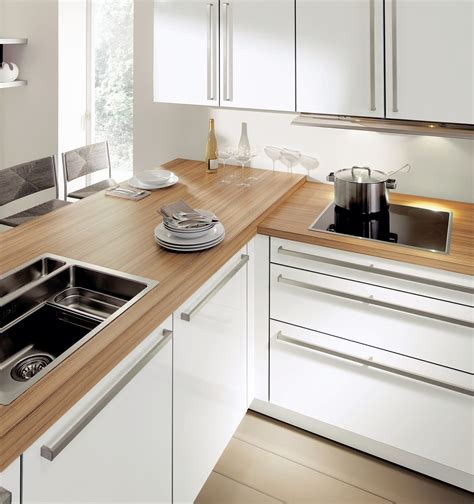 plan de cuisine bois cuisine design blanche